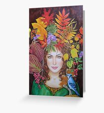 Harvest Queen Greeting Card