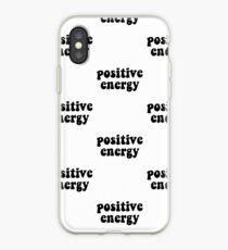 Positive Energy Black Lettering iPhone-Hülle & Cover