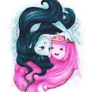 Prinzessin Bubblegum und Marceline die Vampirkönigin von Lavinia Knight