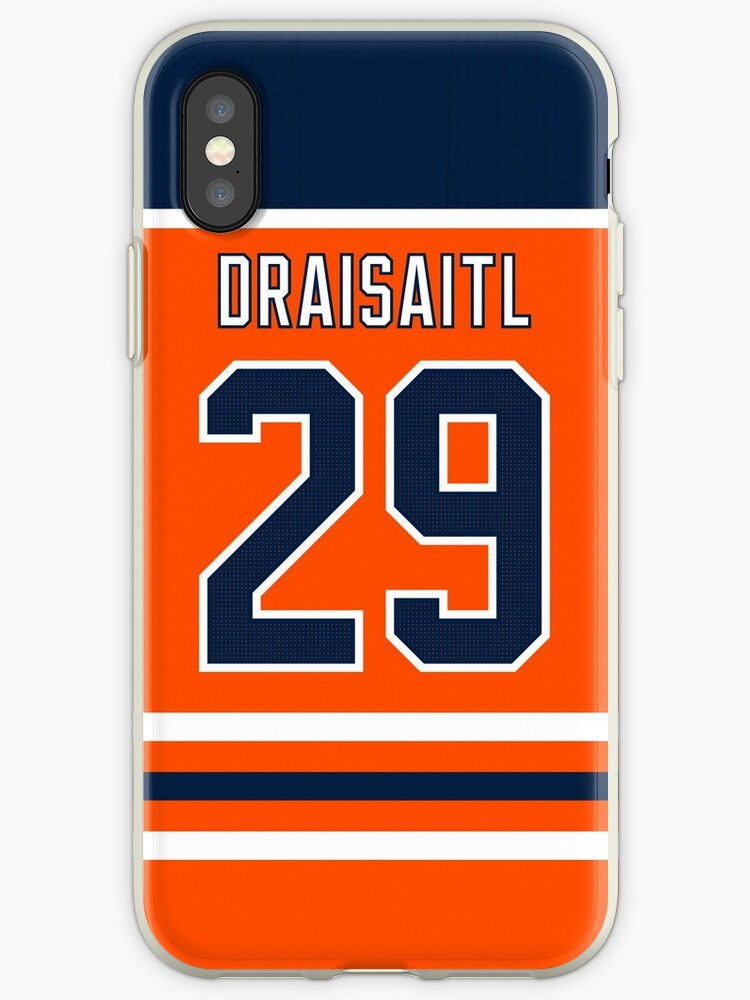 buy online 6c2cc 0dca9 'Edmonton Oilers Leon Draisaitl Home Jersey Back Phone Case' iPhone Case by  IAmAlexaJericho