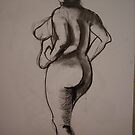 Charcoal Nude2 by Paul Starkey