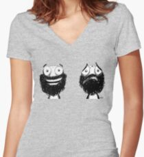 Happy and Sad Fitted V-Neck T-Shirt
