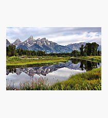 Schwabacher Landing, Grand Tetons NP Photographic Print