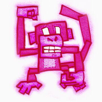 Pink Monkey by DeadlyPancake