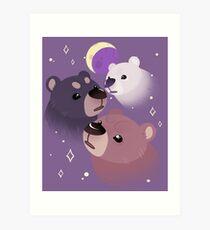 Three Bear Moon Art Print