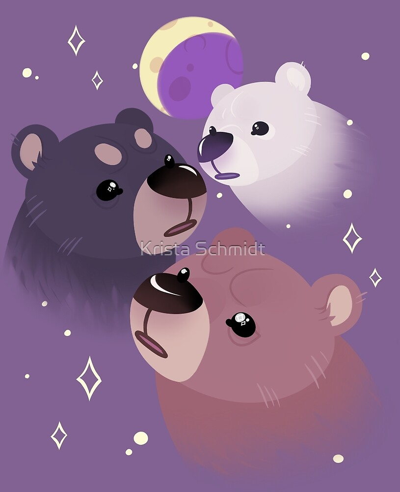 Three Bear Moon by Krista Schmidt