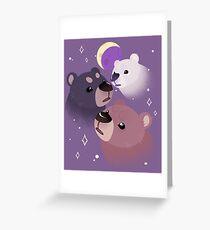 Three Bear Moon Greeting Card