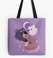 Three Bear Moon Tote Bag