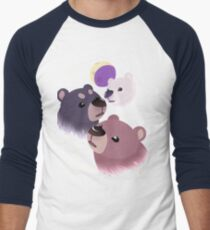 Three Bear Moon Baseball ¾ Sleeve T-Shirt
