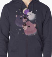 Three Bear Moon Zipped Hoodie