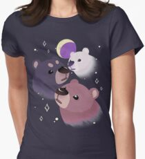 Three Bear Moon Fitted T-Shirt