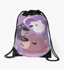 Three Bear Moon Drawstring Bag