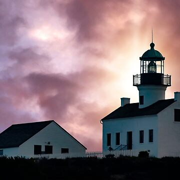 Lighthouse at Sunset by MarylouBadeaux