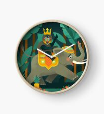 King Mandrill in the Banana Fields Clock