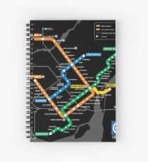 STM Montreal Metro Spiral Notebook