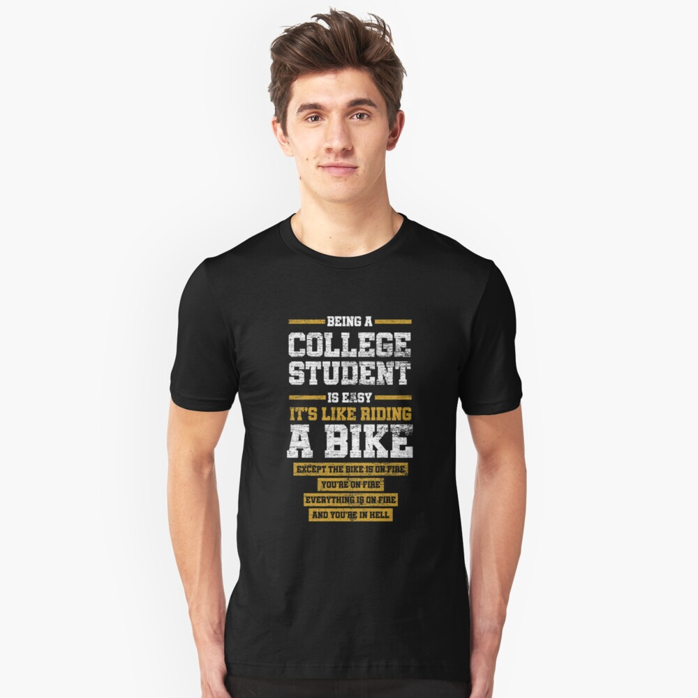 Studying time Unisex T-Shirt Front