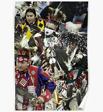 Male Pow Wow Dancers Poster