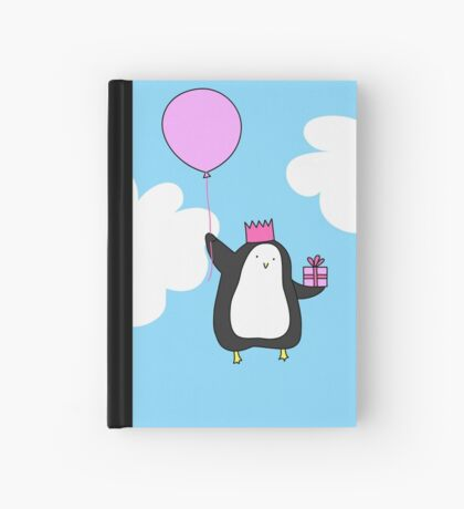 Penguin with Balloon Hardcover Journal