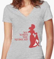 We Wants the Redhead! Women's Fitted V-Neck T-Shirt