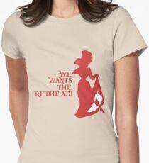 Wir wollen die Rothaarigen! Tailliertes T-Shirt für Frauen