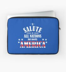 A Salute to All Nations (But Mostly America) Laptop Sleeve