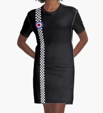 Mod Target and Checkers. Graphic T-Shirt Dress