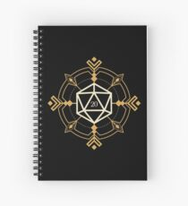 Cuaderno de espiral Dados mágicos esotéricos d20