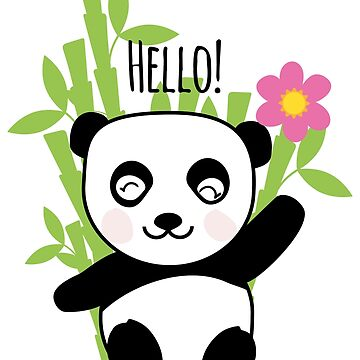 Panda says Hello! by Petitxuilus