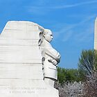 Martin Luther King Memorial And Washington Monument by Cora Wandel