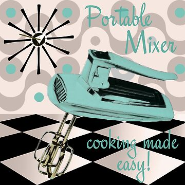 Fifties Kitchen Portable Mixer by mindydidit