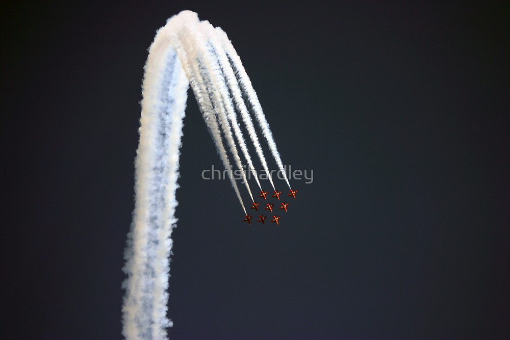 British Red Arrows - Great North Run by Chris Hardley
