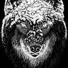 Black Snow Wolf by danibeez
