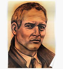 Paul Newman celebrity portrait Poster