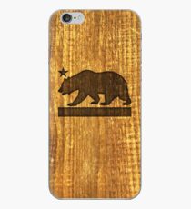 California Bear Wood Design iPhone Case