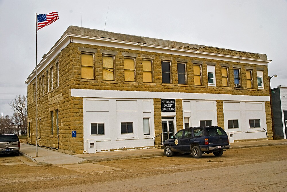Petroleum County (Montana) Court House by Bryan D. Spellman