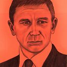 Daniel Craig celebrity portrait by Margaret Sanderson