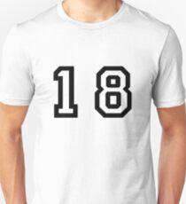 Nummer achtzehn Unisex T-Shirt