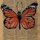 Vintage Butterfly on Antique Paper by PanicAmongUs