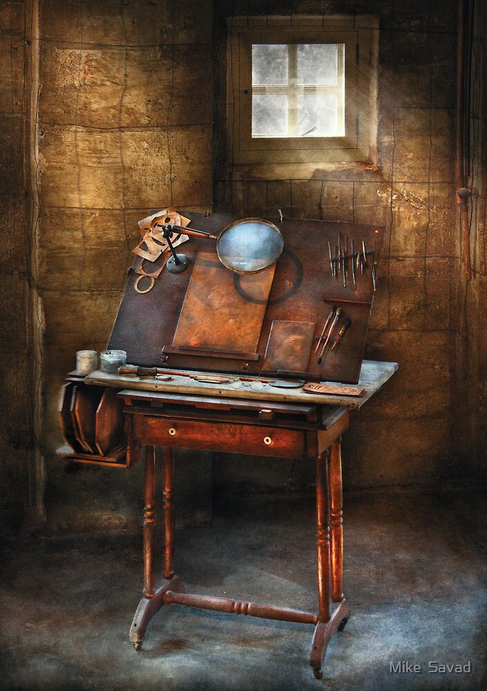 Artist - The etching table by Michael Savad
