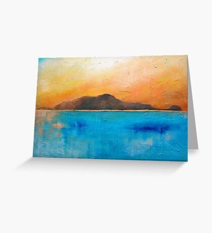 Sunset over there Greeting Card