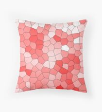 Living coral stained glass Throw Pillow