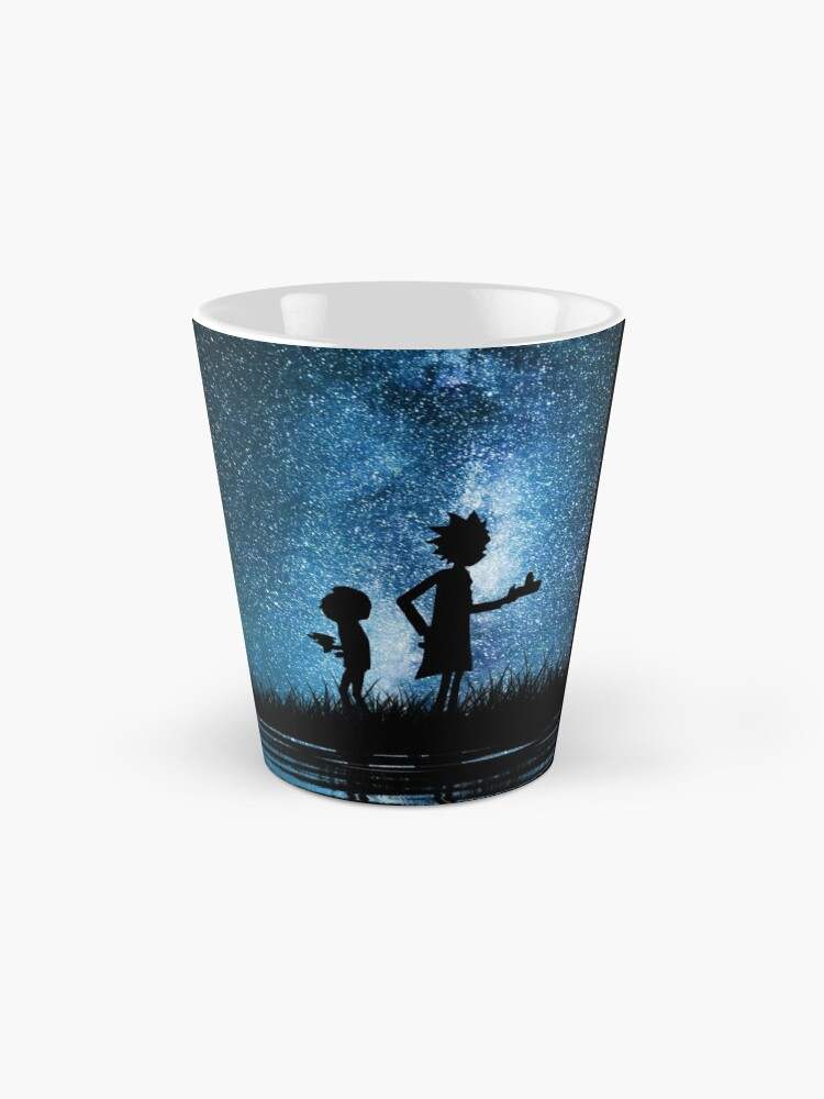 Alternate view of Rick and Morty in Space Mug