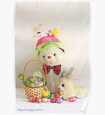 Fatso Bear gets an Easter Basket from the Easter Bunny Poster