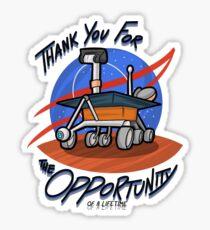 Vielen Dank für die Gelegenheit Sticker