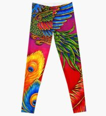 Fenghuang Chinese Phoenix Rainbow Bird Leggings