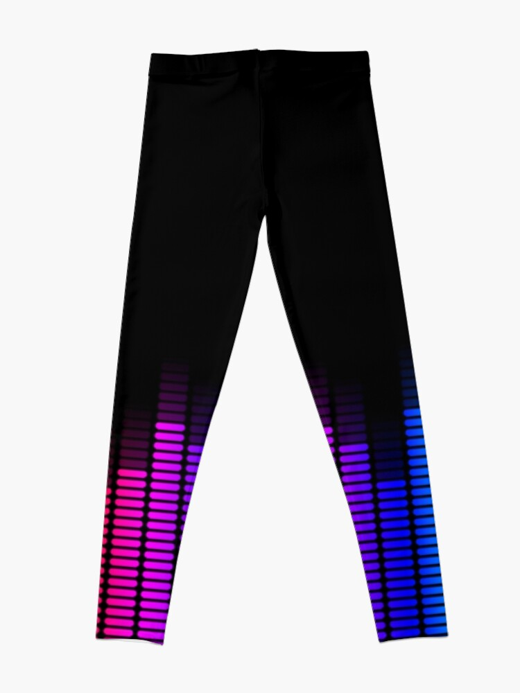 Alternate view of rainbow equalizer Leggings