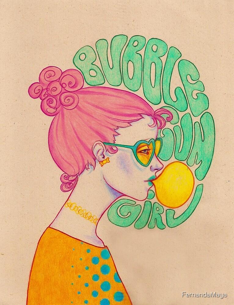 Bubble Gum Girl by FernandaMaya