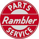 Rambler parts and service vintage sign by htrdesigns