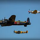 Lancaster - Spitfire - Hurricane - Aircraft of the Past by Phototrinity
