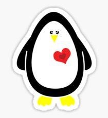 Lovable Penguin Sticker